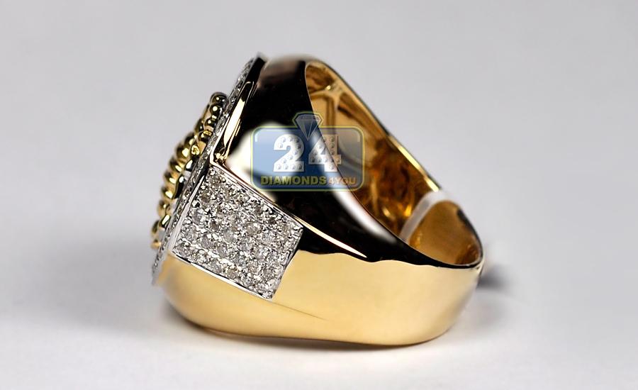 Mens Diamond Scorpion Round Ring 14k Yellow Gold 2 00 Ct