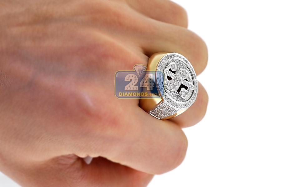 Dollar Sign Ring Gold And Diamonds