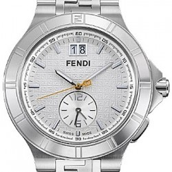 F477160 Fendi High Speed Dual Time Silver Dial Mens Watch 43mm