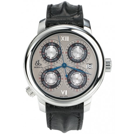 Jacob & Co GMT World Time Automatic Watch GMT-4SS