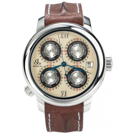 Jacob & Co GMT World Time Automatic Watch GMT-2SS