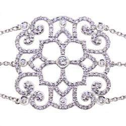 Fancy 18K Gold 1.93 ct Diamond Womens Bracelet 7 1/4 Inches