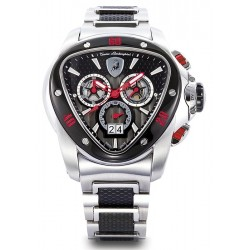 Tonino Lamborghini Spyder 1100 Mens Steel Bracelet Watch 1114