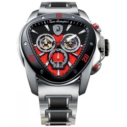Tonino Lamborghini Spyder 1100 Mens Steel Bracelet Watch 1115