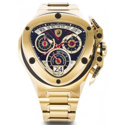 Tonino Lamborghini Spyder 3000 Mens Gold Bracelet Watch 3010