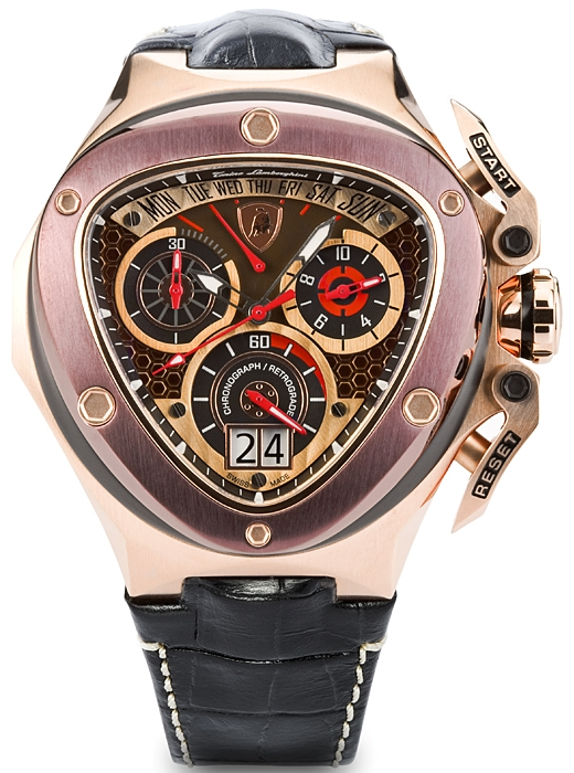 Tonino Lamborghini Spyder 3000 Mens Gold Steel Watch 3017