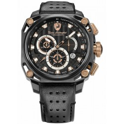 Tonino Lamborghini 4 Screws Mens Black PVD Steel Watch 4850