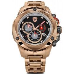 Tonino Lamborghini Shield 7800 Mens Rose Gold PVD Watch 7805
