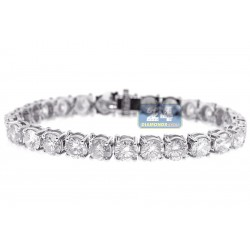 14K White Gold 23.05 ct Diamond Womens Tennis Bracelet  7 Inches