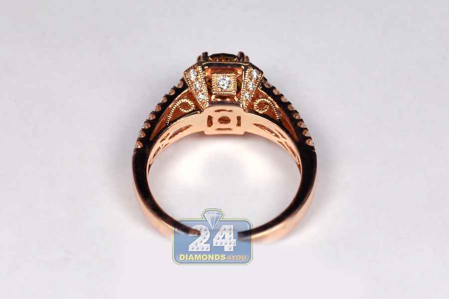 engagement antique rings fancy brown ring dia diamond