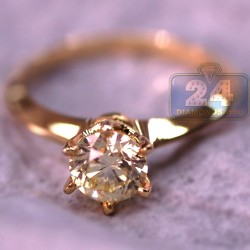 14K Yellow Gold 1.00 ct Diamond Womens Solitaire Engagement Ring