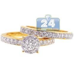 14K Yellow Gold 1.41 ct Diamond Womens Engagement 2-Piece Set