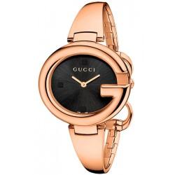 Gucci Guccissima Large Rose Gold PVD Womens Watch YA134305