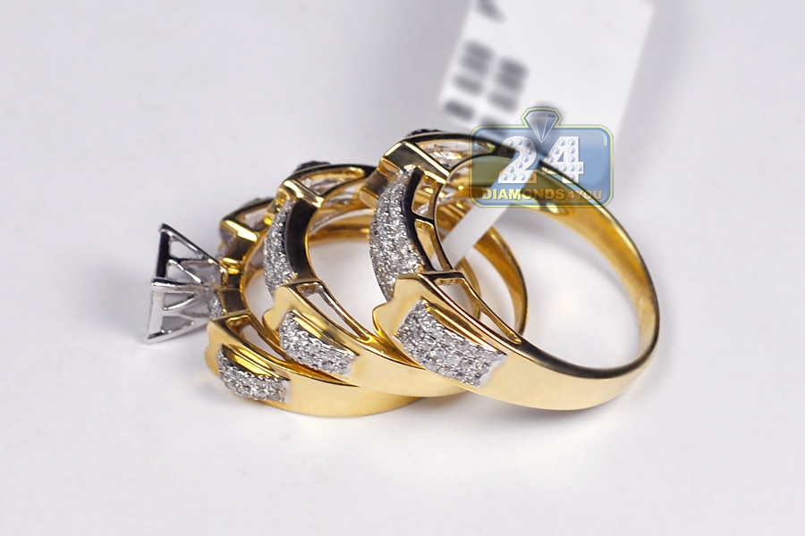 three hot gold arrow white trend originality settings simple product from engagement style two ring nails korean rings