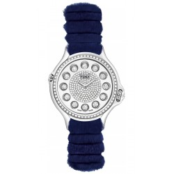F108034031B4P02 Fendi Crazy Carats Special Blue Fur Diamond Watch