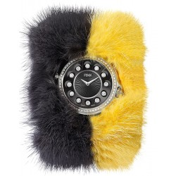 F106031015B0P02 Fendi Crazy Carats Special Gray Yellow Fur Watch