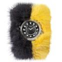 Fendi Crazy Carats Special Gray Yellow Fur Watch F106031015B0P02