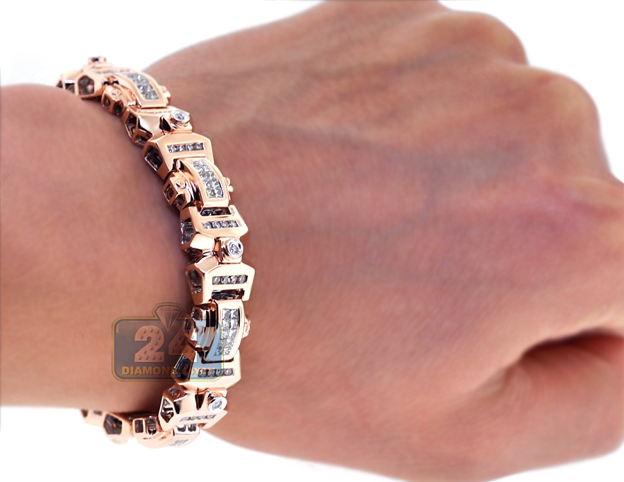 Permalink to Mens Rose Gold Diamond Bracelet