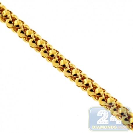 10K Yellow Gold Popcorn Box Link Womens Chain 1.5 mm