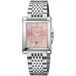 Gucci G-Timeless Rectangle Pink Dial Steel Womens Watch YA138502