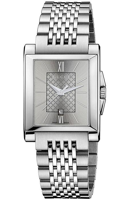 6d560a7be3d Gucci G-Timeless Rectangle Steel Bracelet Womens Watch YA138501
