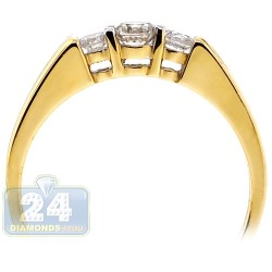 14K Yellow Gold 0.42 ct Three Diamond Womens Engagement Ring