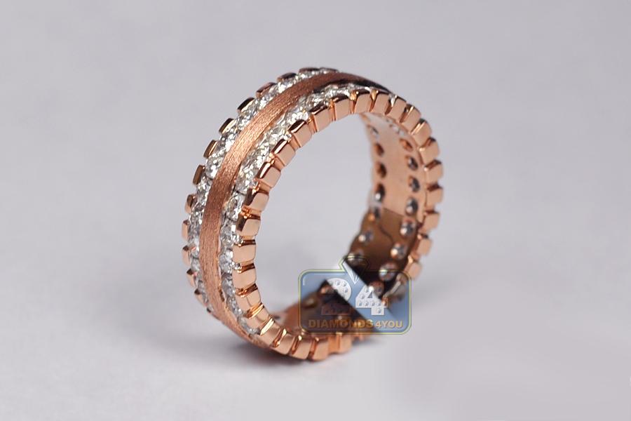 All Way Diamond Eternity Band Ring Matte 14k Gold 1 83 Ct