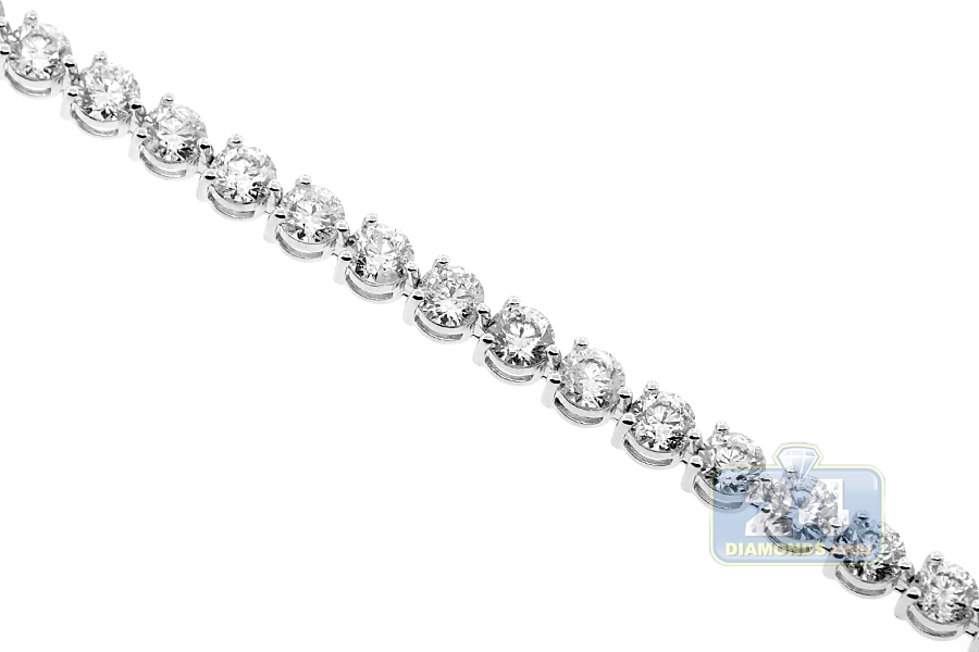 Womens Diamond Tennis Bracelet 18k White Gold 11 62 Ct 5mm 7 Quot