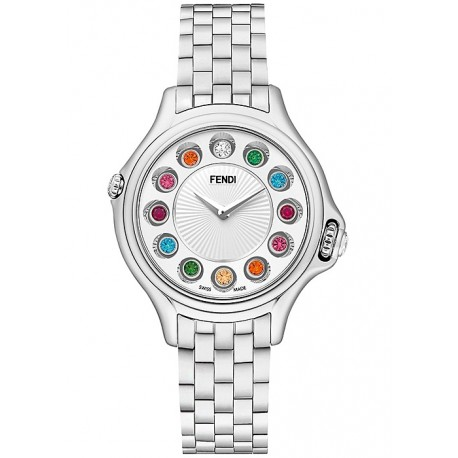 F107024000T0 Fendi Crazy Carats White Dial Bracelet Watch 33mm