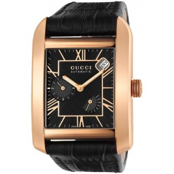 Gucci Handmaster Automatic 18K Pink Gold Mens Watch YA135402