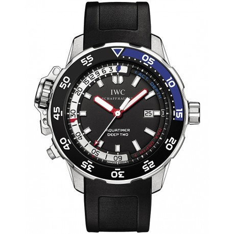 IWC Aquatimer Deep Two Automatic Mens Steel Watch IW354702