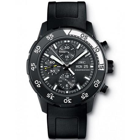 IWC Aquatimer Galapagos Island Mens Black PVD Watch IW376705