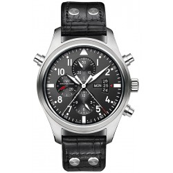 IWC Pilots Double Chronograph Mens Steel Watch IW377801