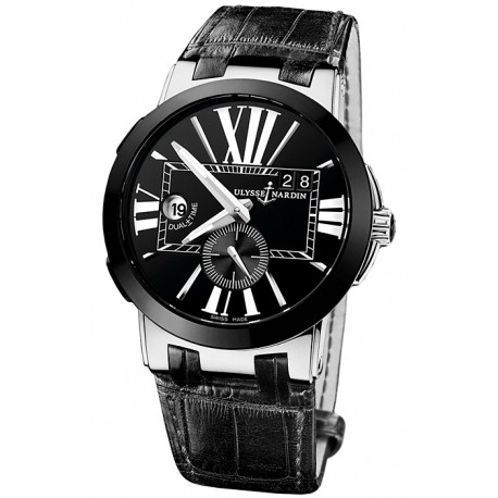 Ulysse Nardin Executive Dual Time Black Dial Watch 243-00/42