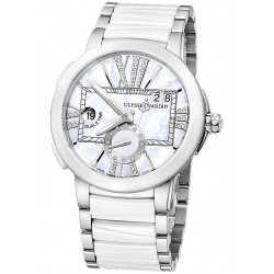 Ulysse Nardin Executive Dual Time White Ceramic Watch 243-10-7/391