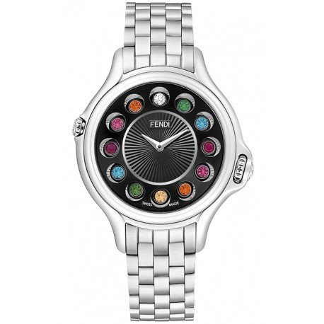 F107031000T05 Fendi Crazy Carats Black Dial Bracelet Watch 38mm