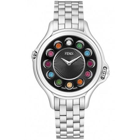 F107021000T02 Fendi Crazy Carats Black DIal Bracelet Watch 33mm