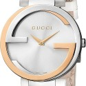 Gucci Interlocking 18K Rose Gold Steel Womens Watch YA133303