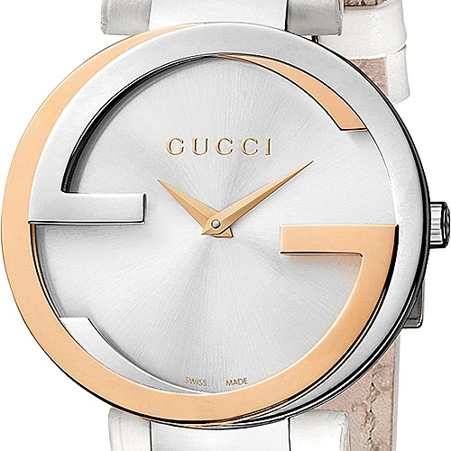 6ecce8f81ca Gucci Interlocking 18K Rose Gold Steel Womens Watch YA133303