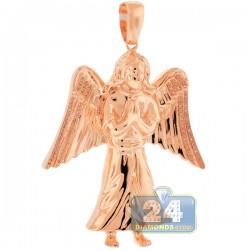 10K Rose Gold 0.27 ct Diamond Jesus Christ Angel Pendant