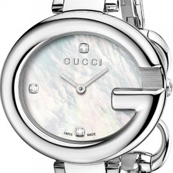 Gucci Guccissima Pearl Diamond Dial Womens Large Watch YA134303