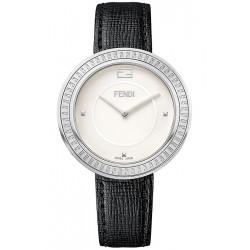 F350034011 Fendi My Way Steel Black Leather 36 mm Womens Watch