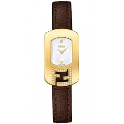 Fendi Chameleon Diamond Gold Leather Watch F300424521C1