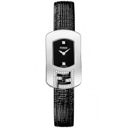 Fendi Chameleon Diamond Steel Leather Watch F300021011C1
