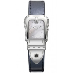 Fendi B.Fendi Glossy Gray Leather Watch F380024531D1