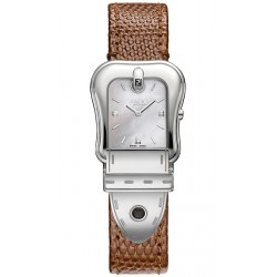 Fendi B.Fendi Brown Lizard Leather Watch F382024521D1