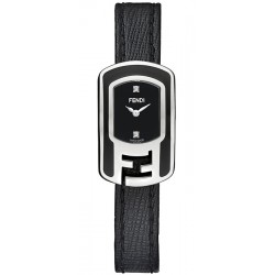 F311021011D1 Fendi Chameleon Black Enamel Steel Case Watch 18mm