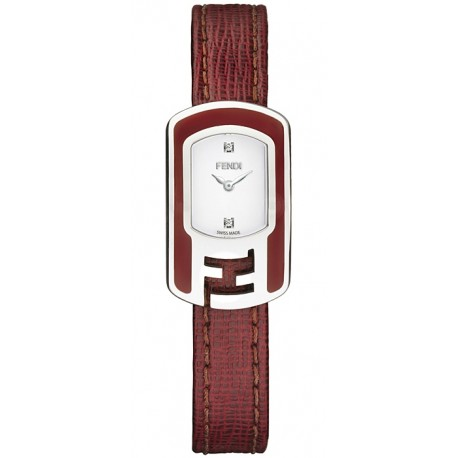 F317024073D1 Fendi Chameleon Red Enamel Steel Case Watch 18mm