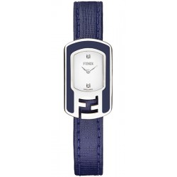 F313024031D1 Fendi Chameleon Blue Enamel Steel Case Watch 18mm