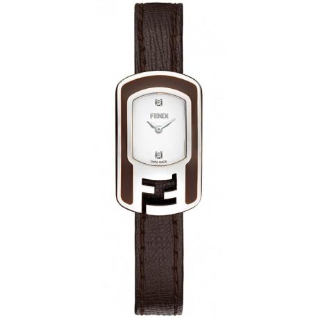 F312024021D1 Fendi Chameleon Brown Enamel Steel Case Watch 18mm